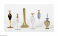 Art Glass:Other , A Grouping Of Perfume Bottles Makers unknown A six-piece groupingof perfume bottles, including a clear glass bottle wit... (6 Items)