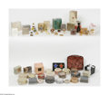 Art Glass:Other , A Grouping Of Jewelry And Powder Boxes Ten compacts of solidperfumes from Estee Lauder enameled and embellished with... (50Items)