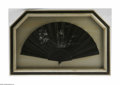 Miscellaneous: , An American Folding Fan Maker unknown, c.Late Nineteenth CenturyThe sticks of carved wood stained to deep black in flor...