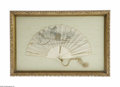 Miscellaneous: , A Japanese Folding Fan Maker unknown, c.Late Nineteenth Century Theshaped ivory sticks and ribs, the guard sticks of de...