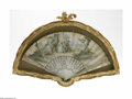 Miscellaneous: , A Continental Folding Fan Maker unknown, c. Mid-Nineteenth CenturyThe ornately carved ivory stick depicting scenes of C...