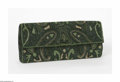 Miscellaneous: , A Beaded Evening Bag Dorian, Twentieth Century The beaded clutchprimarily in dark green with a paisley pattern made of ...
