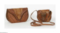 Miscellaneous: , Two Cuban Alligator Bags Cubanola, Twentieth Century The brownalligator bags each with an alligator head and body, the ... (2Items)
