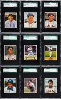 Baseball Cards:Lots, 1950 Bowman Baseball Low Numbers SGC-Graded Collection (9). ...