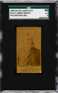 Baseball Cards:Singles (Pre-1930), 1887-90 N172 Old Judge Harry Wright (#510-1a) SGC 40 VG 3. ...
