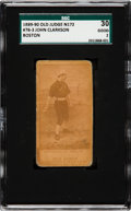 Baseball Cards:Singles (Pre-1930), 1887-90 N172 Old Judge John Clarkson (#78-3, Boston) SGC 30 Good 2....