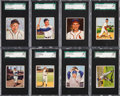 Baseball Cards:Lots, 1950 Bowman Baseball Low Number SGC 88 NM/MT 8 Collection (15). ...