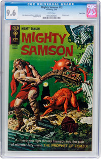 Mighty Samson #13 Twin Cities Pedigree (Gold Key, 1968) CGC NM+ 9.6 White pages
