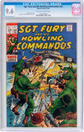 Silver Age (1956-1969):War, Sgt. Fury and His Howling Commandos #63 (Marvel, 1969) CGC NM+ 9.6 Off-white to white pages....