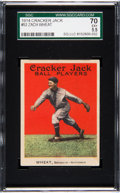 Baseball Cards:Singles (Pre-1930), 1914 Cracker Jack Zach Wheat #52 SGC 70 EX+ 5.5 - Pop One, OneHigher....