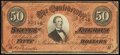 Confederate Notes, T66 $50 1864 PF-8 Cr. 499.. ...