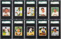 Baseball Cards:Lots, 1950 Bowman Baseball SGC 96 MINT 9 Collection (10). ...