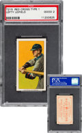 Baseball Cards:Singles (Pre-1930), 1910-12 T215 Red Cross Type 1 Lefty Leifield PSA Good 2 - The OnlyPSA Graded Example! ...