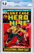 Bronze Age (1970-1979):Superhero, Hero for Hire #1 (Marvel, 1972) CGC VF/NM 9.0 Off-white to whitepages....