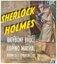 "The Adventures of Sherlock Holmes (20th Century Fox, 1939). British Six Sheet (77.75"" X 87.5"") British Title:..."