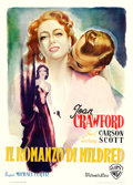"Movie Posters:Film Noir, Mildred Pierce (Warner Brothers, 1948). First Post-War ReleaseItalian 2 - Fogli (39.5"" X 54.5"") Luigi Martinati Artw..."