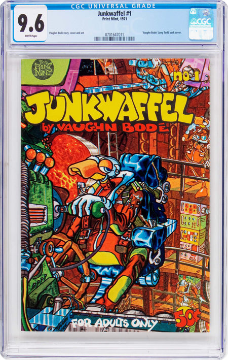 Junkwaffel #1 (Print Mint, 1971) CGC NM+ 9.6 White pages....