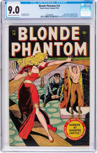 Blonde Phantom #14 (Timely, 1947) CGC VF/NM 9.0 Cream to off-white pages