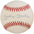 Autographs:Baseballs, Mickey Mantle Single Signed Baseball. . ...