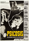 """Movie Posters:Hitchcock, Psycho (Paramount, 1961). Spanish One Sheet (27.5"""" X 39"""") Style A.. ..."""