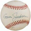 Autographs:Baseballs, c. 1985-86 Travis Jackson Single-Signed Baseball. . ...