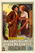 "Movie Posters:Comedy, Chase Me Charlie (Essanay, 1918). One Sheet (27"" X 41"").. ..."