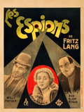 "Movie Posters:Thriller, Spies (UFA, 1928). Pre-War Belgian (24"" X 32"").. ..."