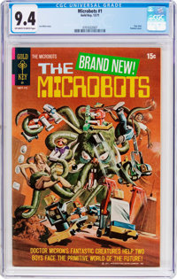 The Microbots #1 (Gold Key, 1971) CGC NM 9.4 Off-white to white pages