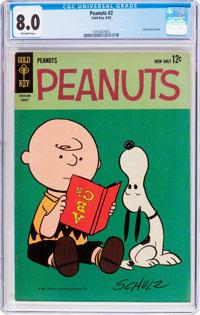 Peanuts #2 (Gold Key, 1963) CGC VF 8.0 Off-white pages