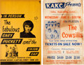 Music Memorabilia:Posters, Gary Puckett/The Cowsills - Two Vintage Concert Posters(circa 1960s).... (Total: 2 Items)