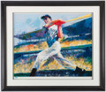 "Autographs:Others, 1998 ""The DiMaggio Cut"" Signed LeRoy Neiman Serigraph.. ..."