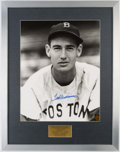 Autographs:Photos, Ted Williams Signed Framed Oversized Photograph. . ...
