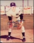 "Autographs:Photos, Mickey Mantle ""No. 6 1951"" Signed Photograph. . ..."