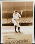 Baseball Collectibles:Photos, 1942 Babe Ruth Type I Photo.. ...