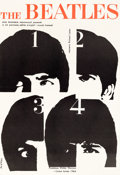 Music Memorabilia:Posters, Beatles - Rare Polish Poster for A Hard Day's Night (UnitedArtists, 1964)....