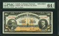 Canadian Currency: , Quebec City, PQ- La Banque Nationale $10 Nov. 2, 1922 Ch. # 510-22-04S Specimen.. ...