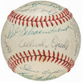 Autographs:Baseballs, 1968 St. Louis Cardinals Team Signed Baseball, National LeagueChampions (22 Signatures).. ...