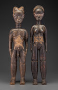 Tribal Art, A Pair of Early Dan Standing Figures... (Total: 2 Items)