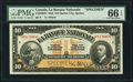 Canadian Currency: , Quebec City, PQ- La Banque Nationale $10 Nov. 2, 1922 Ch. #510-22-04S Specimen.. ...