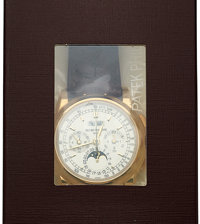 Patek Philippe, Ref. 5970J-001, Unused Double Sealed, Gold Chronograph With Perpetual Calendar, Moon Phases, Tachometer...