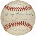 Autographs:Baseballs, 1944 World Champion St. Louis Cardinals Team Signed Baseball (25 Signatures).. ...