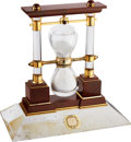 Timepieces:Clocks, Chaumet Paris Large Rock Crystal Diamond Set Presentation Clock. ...
