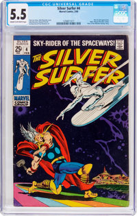 The Silver Surfer #4 (Marvel, 1969) CGC FN- 5.5 Cream to off-white pages