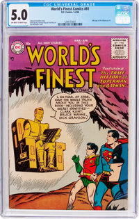 World's Finest Comics #81 (DC, 1956) CGC VG/FN 5.0 Off-white to white pages