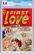Golden Age (1938-1955):Romance, First Love Illustrated #4 (Harvey, 1949) CGC NM 9.4 Cream to off-white pages....