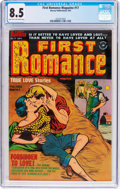 Golden Age (1938-1955):Romance, First Romance Magazine #17 (Harvey, 1952) CGC VF+ 8.5 Light tan to off-white pages....