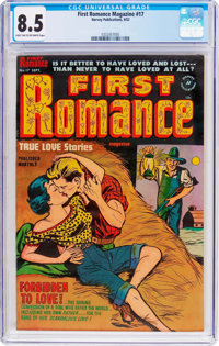 First Romance Magazine #17 (Harvey, 1952) CGC VF+ 8.5 Light tan to off-white pages