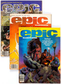Magazines:Science-Fiction, Epic Illustrated Group of 13 (Marvel, 1980-83) Condition: AverageVF.... (Total: 13 Comic Books)