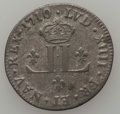 """French Colonies: Pair of Louis XIV 30 Deniers (""""Mousquetaires""""),... (Total: 2 coins)"""