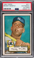 Baseball Cards:Singles (1950-1959), 1952 Topps Mickey Mantle #311 PSA Authentic. ...